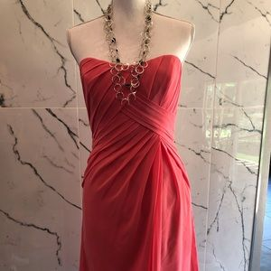 Badgley Mischka Coral Dress